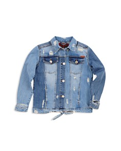 7 For All Mankind Girls' Distressed Denim Jacket - Little Kid, Big Kid - Bloomingdale's_0