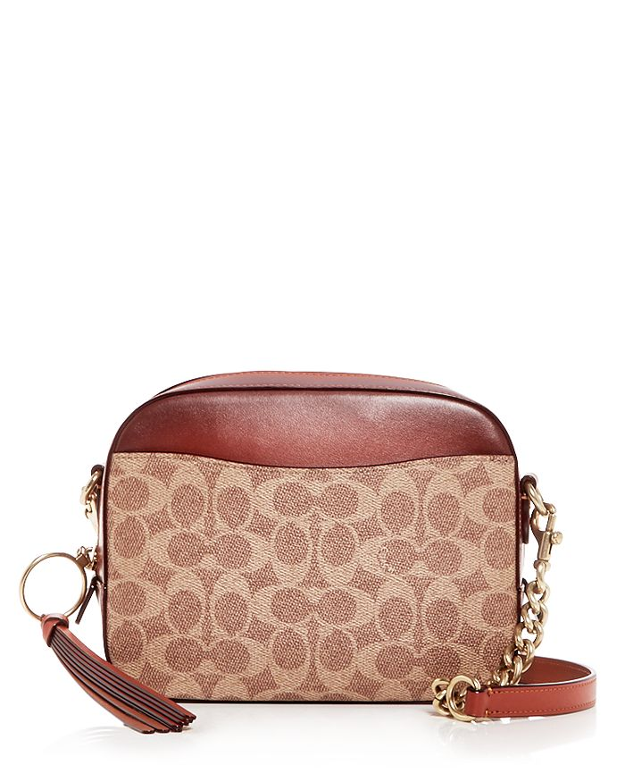 COACH - Logo Print & Leather Camera Bag