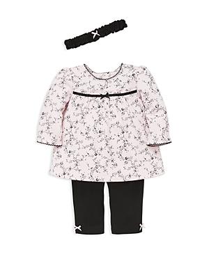 Little Me Girls RosePrint Tunic Leggings  Headband Set  Baby