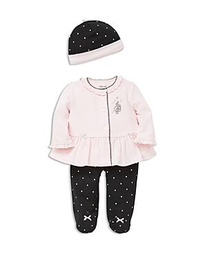 Little Me Girls Ballet Slippers Cardigan Footie Pants  Hat Set  Baby