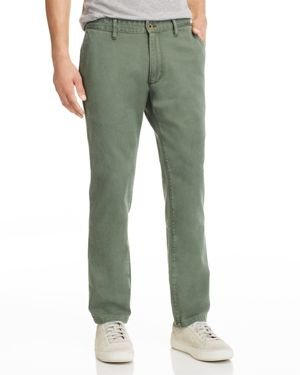 Double Eleven Cal Regular Fit Chinos in Army Green