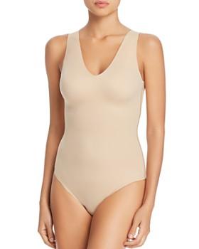 Calvin Klein - Invisibles Seamless V-Neck Thong Bodysuit