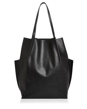 STEVEN ALAN Dermot Leather Tote Bag in Black