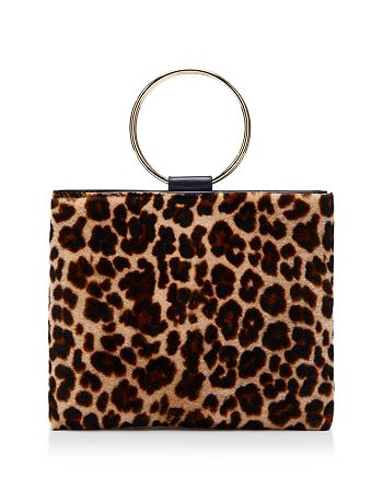 Thacker - Le Pouch Medium Leopard-Print Shearling & Leather Crossbody