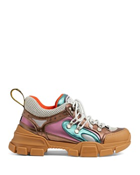 Gucci - Women's Sega Leather Lace Up Sneaker