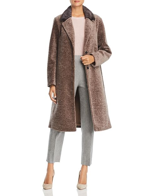Maximilian Furs - Lamb Shearling Coat with Mink Fur Collar - 100% Exclusive