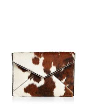 Rebecca Minkoff - Leo Large Leather & Calf Hair Clutch