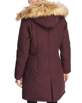 VINCE CAMUTO - Hooded Faux Fur Trim Parka