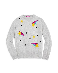 AQUA - Girls' Shooting Star Cashmere Sweater, Big Kid - 100% Exclusive