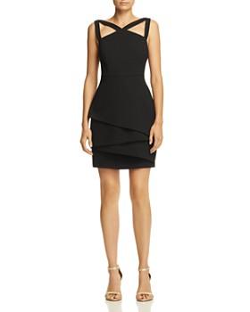BCBGMAXAZRIA - Strap-Detail Crepe Dress - 100% Exclusive
