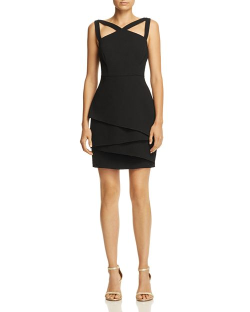 BCBGMAXAZRIA - Strap-Detail Crepe Dress - 100% Exclusive