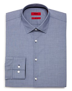HUGO - Micro-Check Slim Fit Dress Shirt