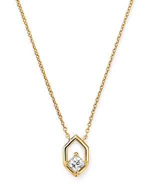 Bloomingdale's Diamond Hexagon Pendant Necklace in 14K Yellow Gold, 0.20 ct. t.w. - 100% Exclusive