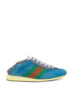Gucci - Women's Suede & Leather Lace Up Sneakers