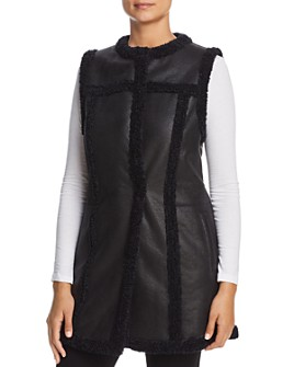 NIC and ZOE - Drama Long Faux-Leather Vest