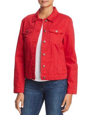 VELVET HEART Denim Jacket in Stone Red
