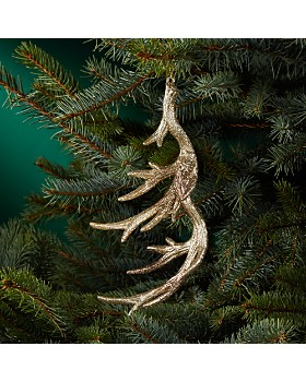 Bloomingdale's - Glittered Antler Ornament - 100% Exclusive