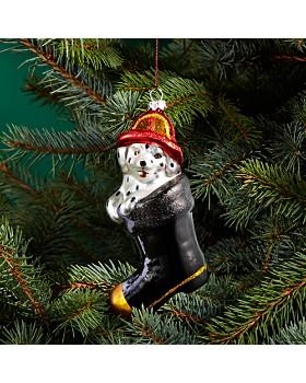 Bloomingdale's - Glass Dalmatian in Fireman Boot Ornament - 100% Exclusive