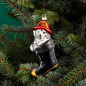 Bloomingdale's Glass Dalmatian in Fireman Boot Ornament - 100% Exclusive