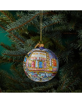 Michael Storrings - The Great White Way Glass Ball Ornament