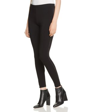 CAPOTE Piped Leggings in Black