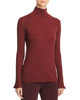 Lafayette 148 New York - Ribbed Mock-Neck Sweater