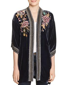 Johnny Was - Quito Embroidered Velvet Kimono