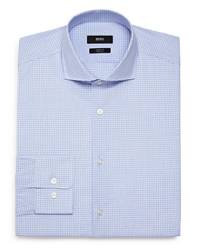 BOSS - Dobby-Check Regular Fit Dress Shirt