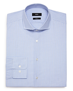 Boss Dobby-Check Regular Fit Dress Shirt