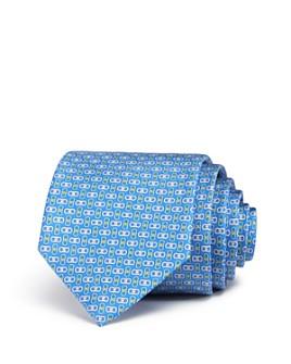 Salvatore Ferragamo - Enne Mini Linked-Gancini Silk Classic Tie
