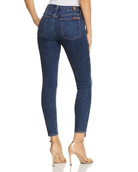 7 For All Mankind - Spliced-Hem Ankle Skinny Jeans in B(air) Echo