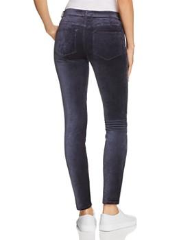 PAIGE - Verdugo Ultra Skinny Velour Jeans in Midnight Slate Velvet