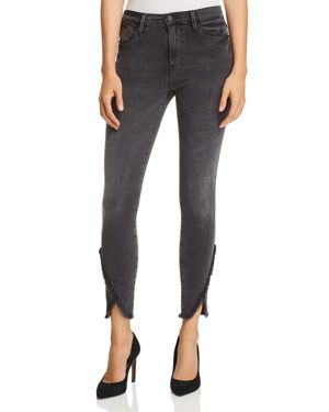 Frame Le High Skinny Tulip-Hem Jeans in Quinby