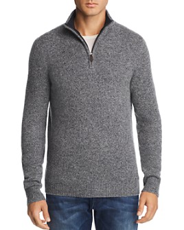 The Men's Store at Bloomingdale's - Half-Zip Tweed Cashmere Sweater - 100% Exclusive