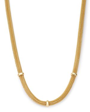 Bloomingdale's Three Station Bismark Chain Necklace in 14K Yellow Gold, 17.5 - 100% Exclusive