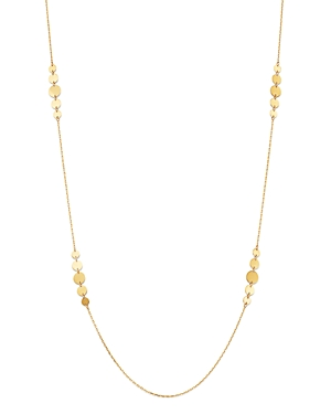 Moon & Meadow 14K Yellow Gold Gradient Disc Station Necklace, 30 - 100% Exclusive