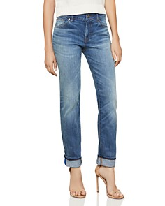 BCBGMAXAZRIA - Straight-Leg Boyfriend Jeans in Medium Wash