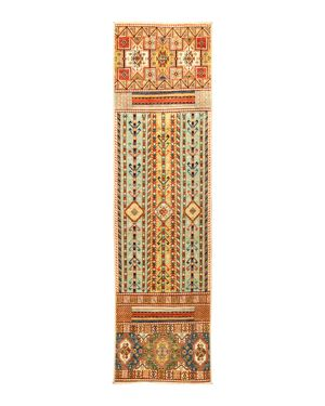 Solo Rugs Eclectic Hand-Knotted Runner Rug, 2'10 x 11'1