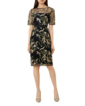 HOBBS LONDON - Phoebe Embroidered Illusion Dress