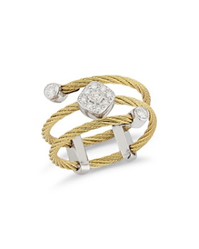 ALOR - Cable Ring with Diamonds