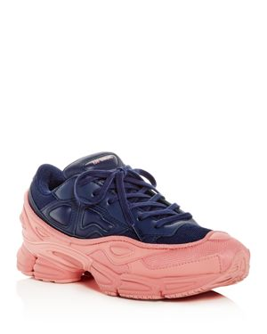 ADIDAS BY RAF SIMONS Raf Simons For Adidas Women'S Ozweego Leather Lace-Up Sneakers in Multicoloured