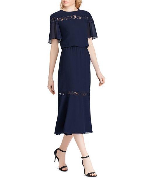 Ralph Lauren - Lace-Inset Chiffon Dress