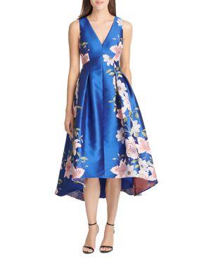 Eliza J High/Low Floral Jacquard Dress 3073183