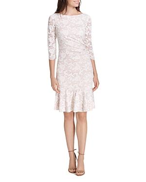 Eliza J Draped Lace Dress