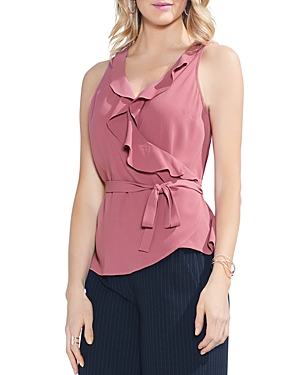 Vince Camuto Ruffle Wrap Blouse