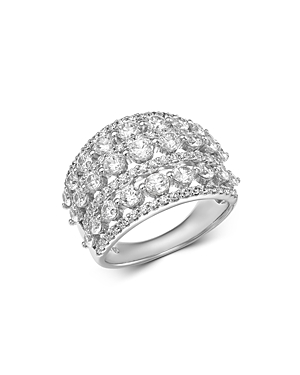 Bloomingdale's Diamond Statement Ring in 14K White Gold, 3.0 ct. t.w. - 100% Exclusive