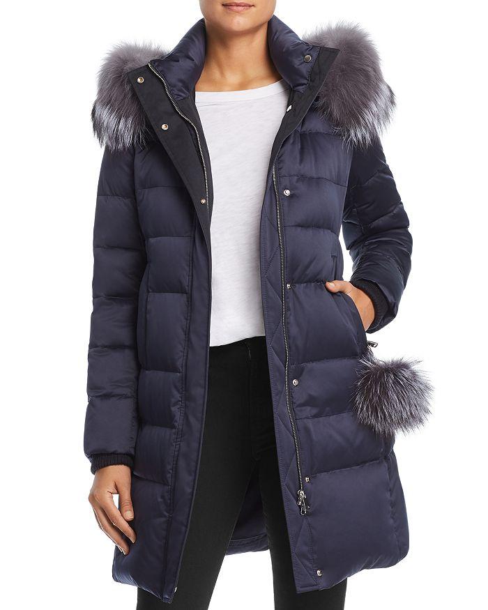Maximilian Furs - Fox Fur Trim Down Coat - 100% Exclusive