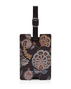 Ted Baker - Ostere Printed Leather Luggage Tag