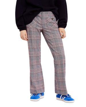 Plaid Patch-Pocket Pants, Black