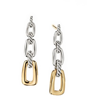 David Yurman - Wellesley Link Drop Earrings in Sterling Silver with 18K Yellow Gold